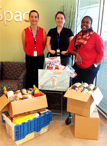 CollabraSpace has a successful Food Drive 2014!