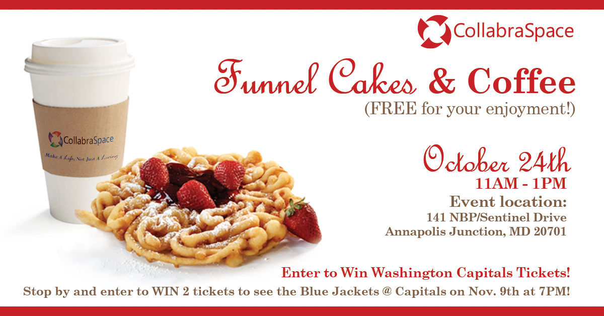 October 24th: FREE Funnel Cakes & Coffee!