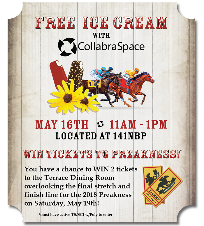 FREE Ice Cream with CollabraSpace- MAY 16TH!