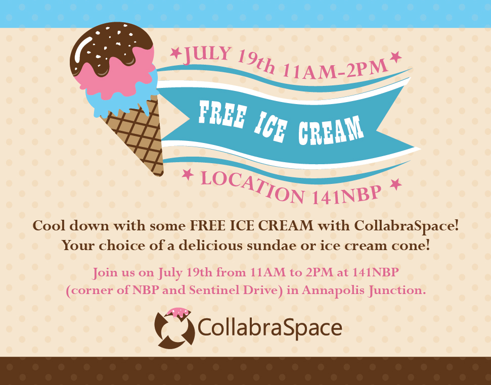 Join us for Free Ice Cream July 19th!