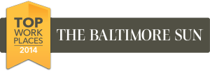 CollabraSpace is privileged to be named one the Baltimore Sun's Top Workplaces 2014!