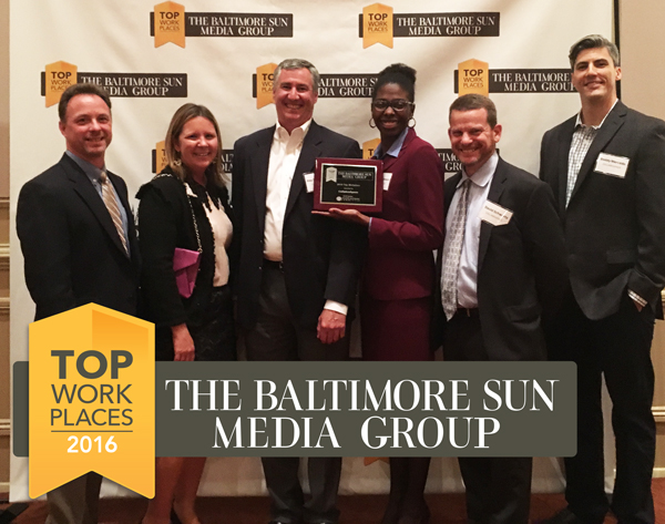 CollabraSpace named Baltimore Sun Top Workplace for 2016